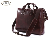 100% Real Leather Men's Business Briefcases Messenger Bag HandBag Laptop Bags 7167Q
