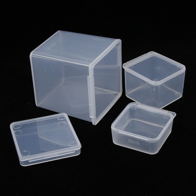 Hot Sale Small Square Clear Plastic Jewelry Storage Boxes Beads