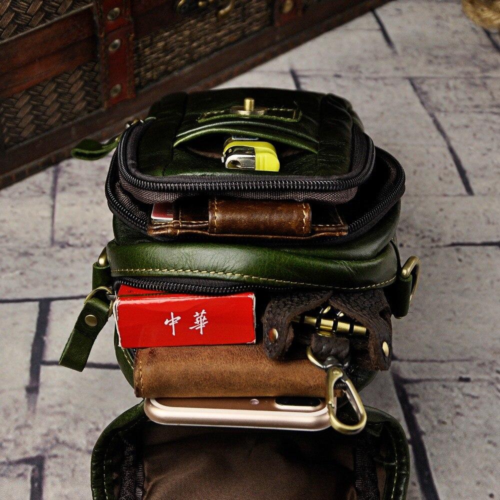 Mode äkta läder multifunktion sommar påse krok midja pack - Bälten väskor - Foto 4