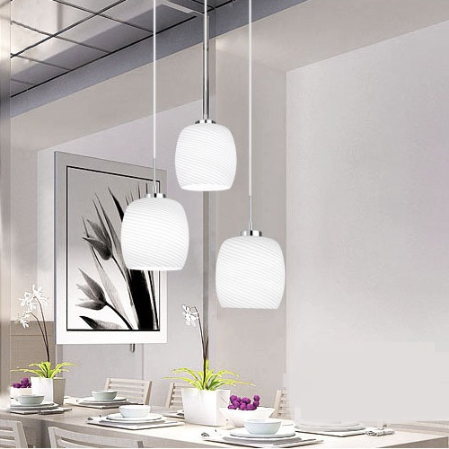 Modern minimalist living room dining atmosphere three lamps dining room with glass round led pendant lights nordic american modern minimalist creative led pendant lights living room dining glass three head pastoral bird pendant lamps