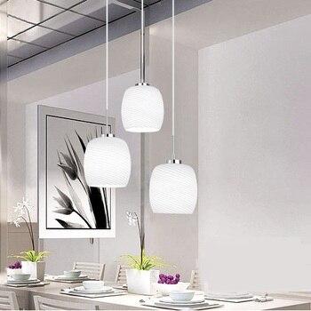 Moderno minimalista sala de estar comedor atmósfera tres lámparas comedor  con vidrio redondo led luces colgantes >> FUNNY ty Store