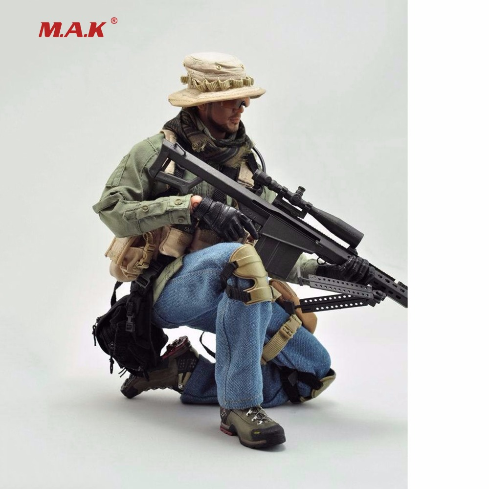 1/6 Scale The Sniper Soldier Clothes Set Military Sharpshooter Suits For 12 Male Action Figures 1 6 military scale action figures doll set super flexible 12action figure doll desert sniper soldier plastic model toys