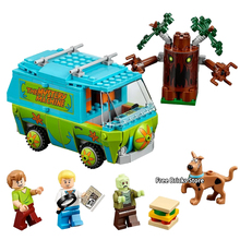Bela 10430 Fit Legoness Scooby Doo 75902 The Mystery Machine Set Movies Animals Figures Building Blocks Toys For Children Gifts