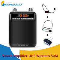 Portable Speaker Mini UHF Wireless MIC Voice Amplifier Loudspeaker FM Radio with Headset Microphone For teachers tour guide