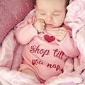 100% Cotton Baby Bodysuit Autumn Newborn Cotton Body Baby Long Sleeve Underwear Next Infant Boy Girl Pajamas Clothes H1