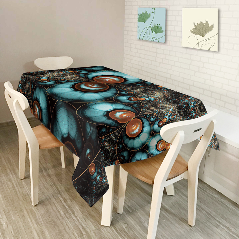 2017New Home decor American style Interstellar Scenic series Pattern Table Cloth Dining Tablecloth Coffee Restaurant Cloth Cover