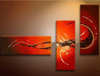3 Piece Pictures Gifts Hand Painted Abstract Graffiti Lines Oil Paintings On Canvas Modern Home Decor