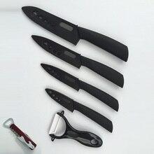 5 teile/satz Keramikmesser Set 4 Koch Schneiden Utility Schälmesser + 1 Peeler + 1 Freies Korkenzieher Hause Küchenmesser Set