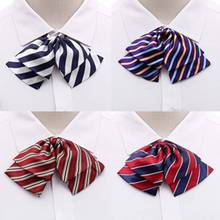 Women Waiter Rainbow Zebra Stripe Bow Tie Polyester Silk Butterfly Kid Children School Party Wedding Banquet Bowtie Collar(China)