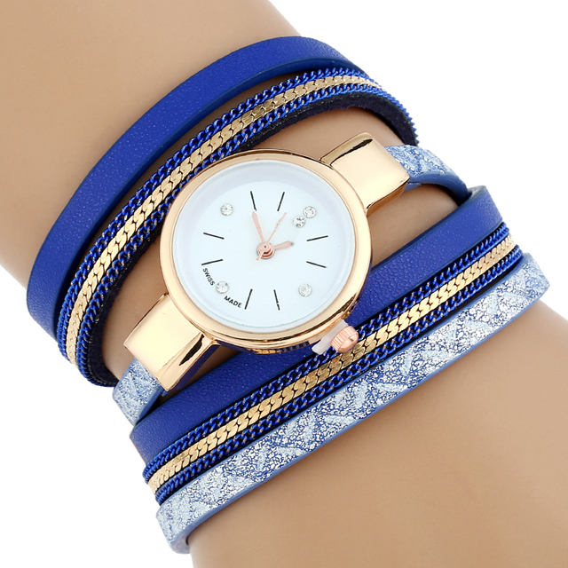 Gnova Platino Fashion Women Bracelet Watch Gold Quartz Gift Wristwatch Women Dre
