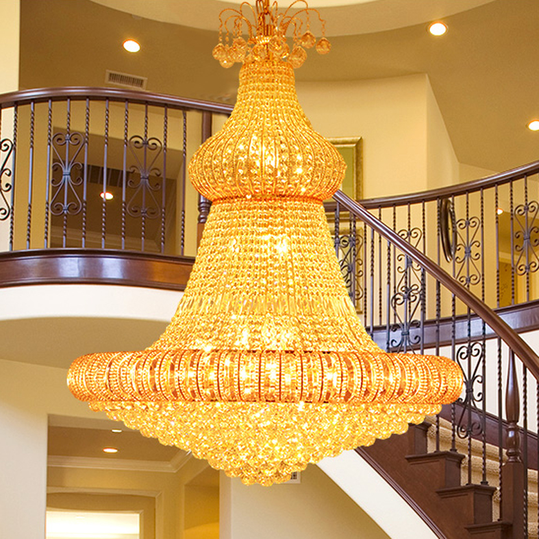 LED Gold Crystal Chandelier Lights Fixture American Modern - Indoor Lighting