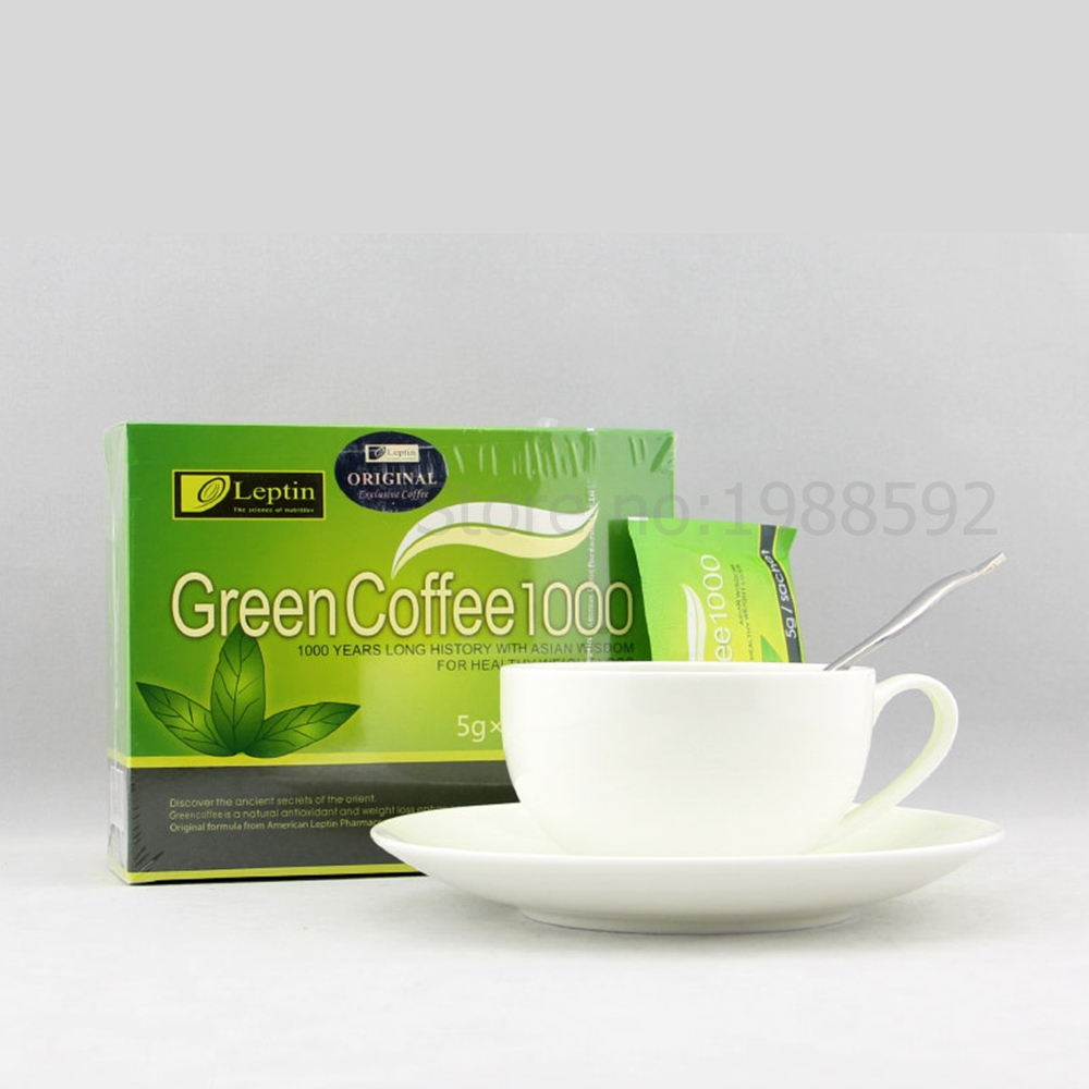 Green Coffee 1000 Nutrition Weight Loss Diet Tea Supplement Burn Fat Slimming Tea MP0094 36bags/2Boxes for 36days Use chinese puer tea 125g natural freshest jasmine tea flower tea organic food green tea health care weight loss free shipping
