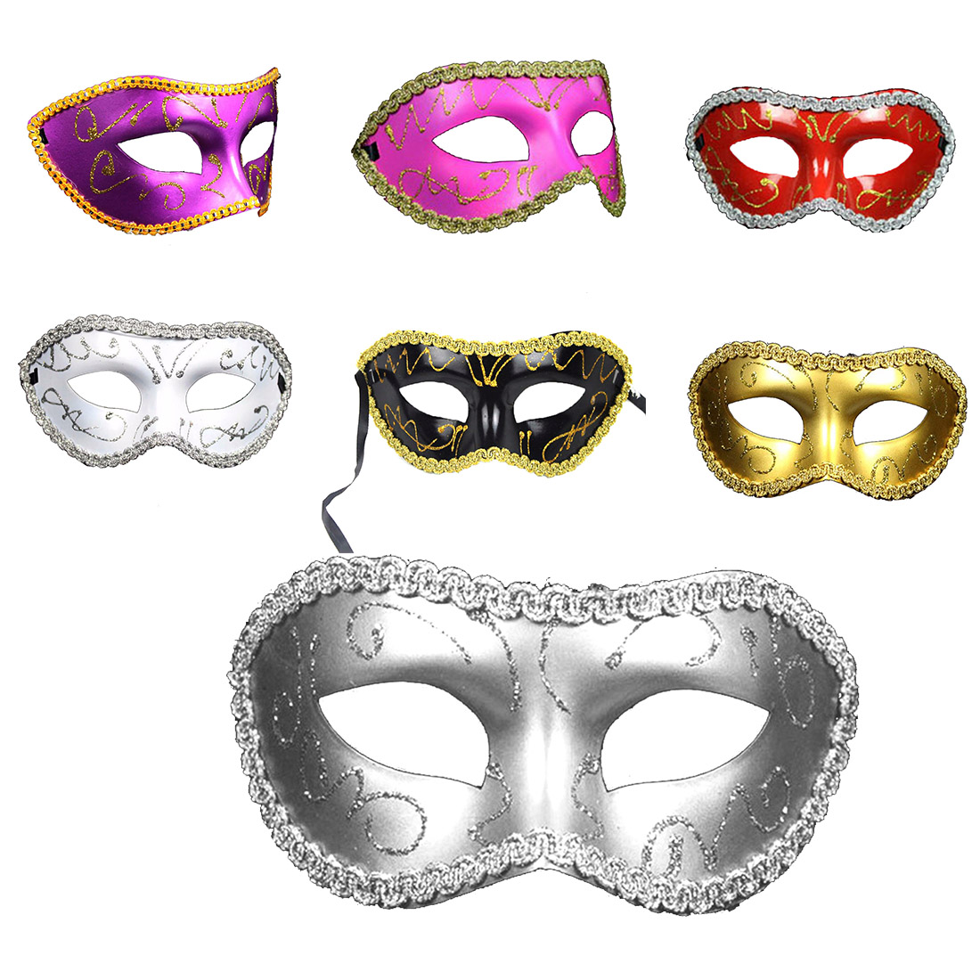 Masquerade <font><b>Sexy</b></font> Men Women Costume Prom <font><b>Mask</b></font> Venetian Mardi Gras Party Dance Ball <font><b>Halloween</b></font> Carnaval <font><b>Mask</b></font> Fancy Dress Costume image