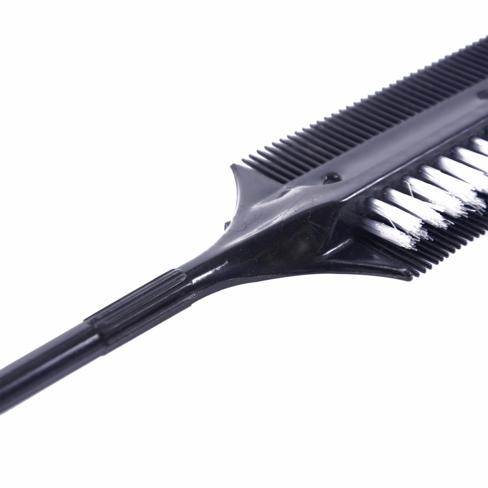 Image 4 - Professional Hairdressing Double Side Dye Comb with Nylon Hair Drying Brush Tinting Combs Hair Color Brush Hair Styling Tools-in Combs from Beauty & Health