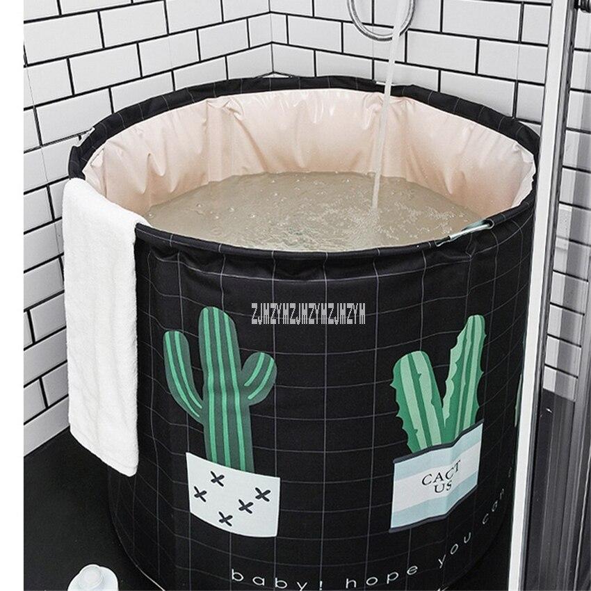 Qualité Portable en plastique pliant bain baril ménage adulte baignoire épaissie pliable bain seau unique SPA Massage piscine