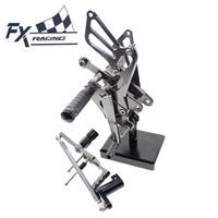 CNC Aluminum Motorcycle Foot Pegs Rest Footpegs Pedals Rearset Footrest For Honda CBR1000RR CBR 1000RR ABS 2008 2015 2009