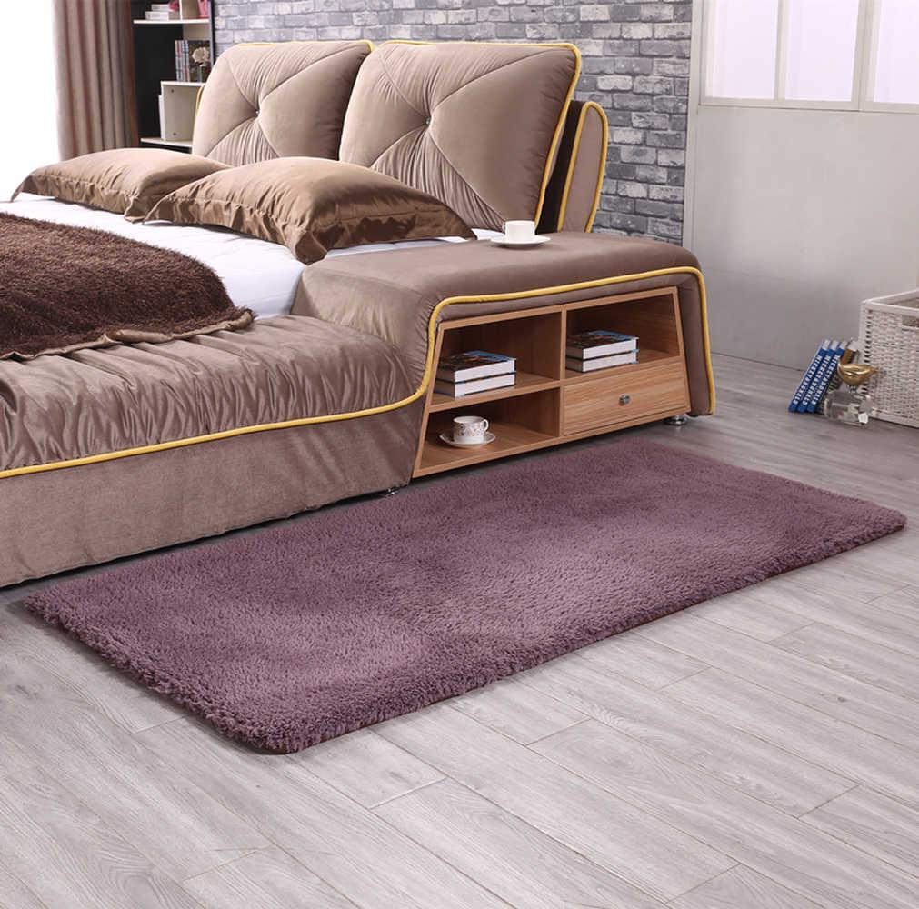Высокое качество кашемир чистый цвет ковер прикроватное одеяло коврик высокой плотности утолщаются коврики коврик для гостиной Фойе Спальня Коврик