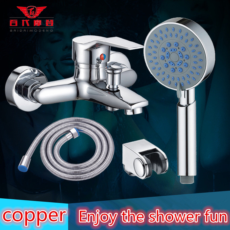2015 Direct Selling 131 200mm Shower Faucets Copper Hot And Cold Shower Assembly Faucet Concealed Flush Simple Set Mixing Valve