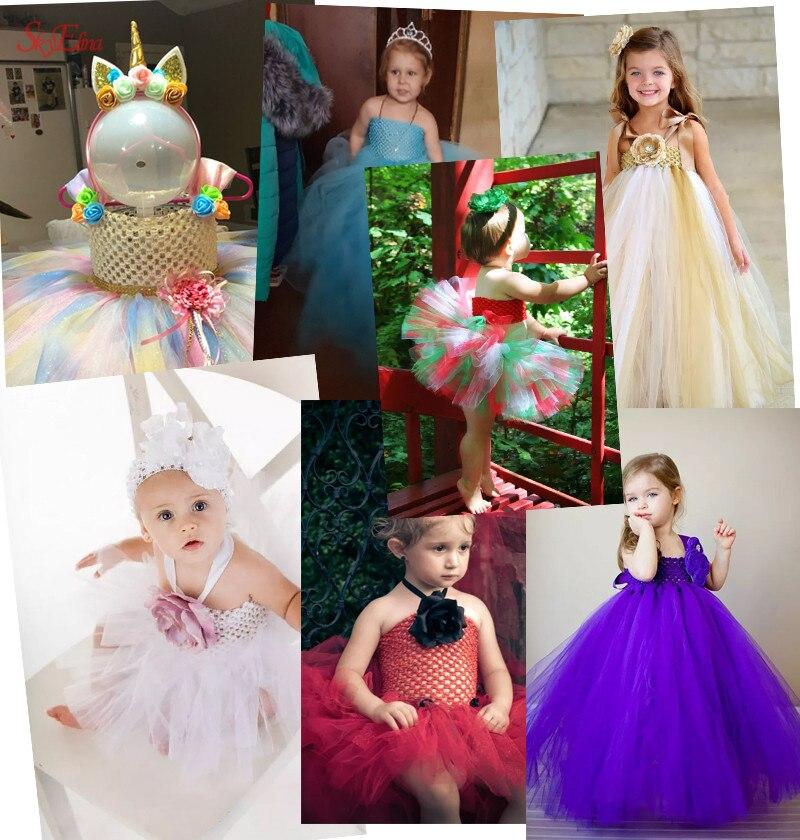 20  23 cm Children Handmade Wrapped Chest Elastic Baby Girl Crochet Tube Tops Wide for Tulle skirt DIY Dress material 5Zsh939 (38)