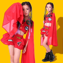 Childrens Chinese style costumes girls jazz dance costume atmospheric catwalk performance clothing host dress