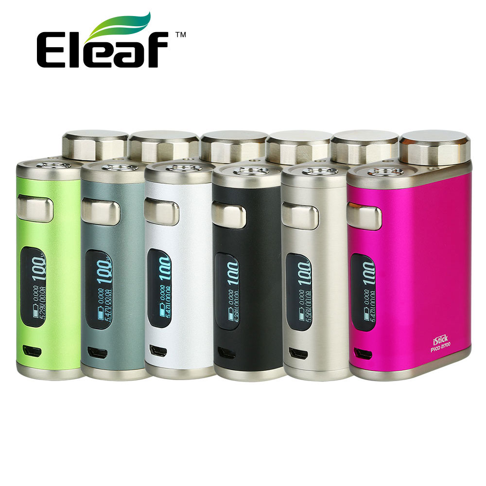 100W Eleaf IStick Pico 21700 TC Box MOD 2A Quick Charging & 0.91-inch Display Fit Ello Tank No 18650 Battery Vs IStick Pico 75W