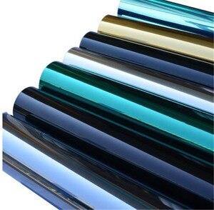 Image 1 - רוחב 60/70/80/90 cm אורך 400 cm אחד דרך שיקוף רעיוני חלון סרט, דביק פרטיות זכוכית גוון חום שליטה אנטי Uv