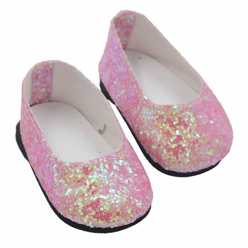 18 นิ้วตุ๊กตาสาว Sequins หนังรองเท้าสำหรับตุ๊กตาเด็ก 43 ซม.Mini รองเท้าสำหรับของขวัญเด็กที่ดีที่สุด