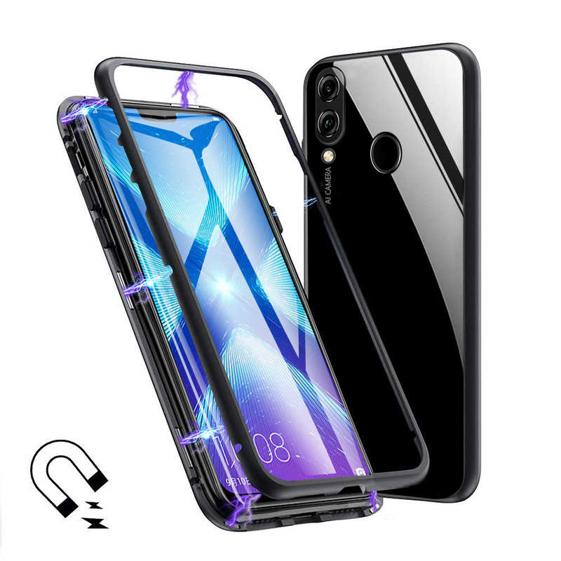 Magnetic Case for Huawei Honor 8X Case Metal Tempered Glass Magnet Cases  Back Cover for Huawei Honor 8X 8 x Max Case Shell Capa