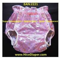送料無料 FUUBUU2221-Pink 糸スターアダルト baby おむつ大人の赤ちゃんのプラスチックパンツのためのパンツ大人のベビーロンパース ABDL