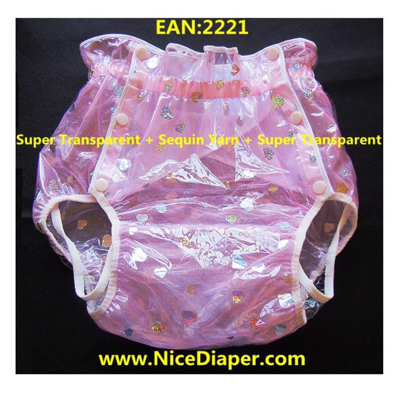 Free Shipping FUUBUU2221-Pink Yarn Star  Adult Baby Diaper Adult Baby Plastic Pants For Babies Pants Adult Baby Onesie ABDL