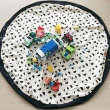 Сумка для хранения игрушек 140 см, сумка-Органайзер для игрушек и Детский напольный коврик для занятий спортом, многоцелевой игровой мешок, быстрый мешочек для хранения игрушек в подарок