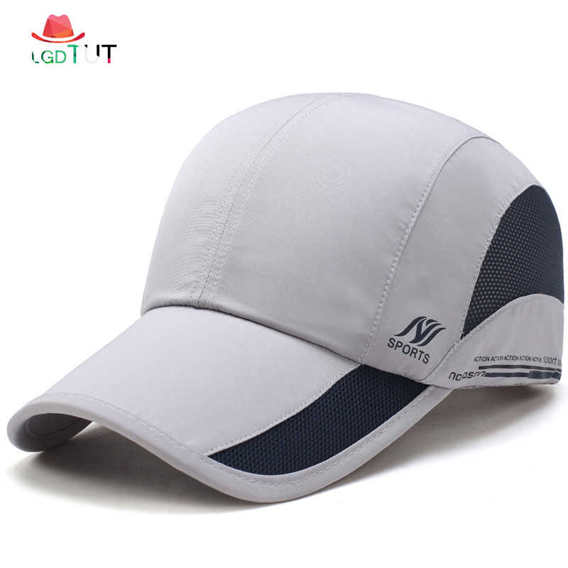 02655e438edf 2019 Fast-drying Baseball Cap New Spring Summer Hats Caps Men Outdoor Caps  Mens Baseball