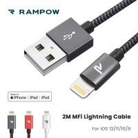 RAMPOW mfi-контроллеров кабель Lightning для usb-кабель для iPhone 5 V/2A Быстрая зарядка кабель для iPhone XS Max для iPhone X/8/7 для iPad/Pro/Air