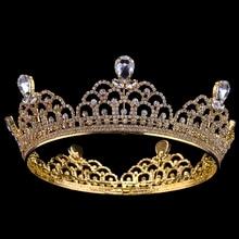 Water droplets Crystal Princess Tiara Rhinestone Full Crown Ornaments Wedding Hair Accessories Prom Tiara rhinestone two heart princess tiara