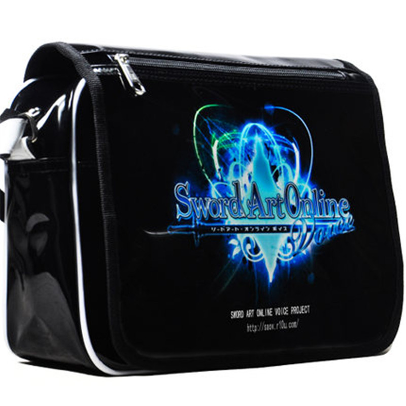 Sword Art Online Bag Anime SAO Cosplay School Bag Patent Leather Messenger Bags Waterproof Shoulder Bag