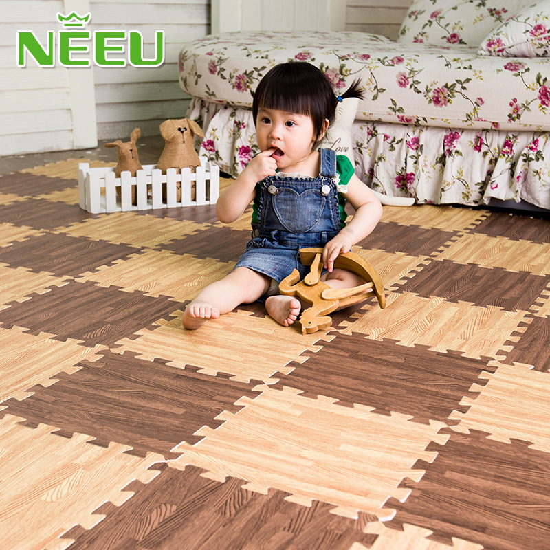 NEEU baby puzzle mat toddler eva foam play mat children wood carpet infant gym games playmat rug soft floor 30*30*1cm ...