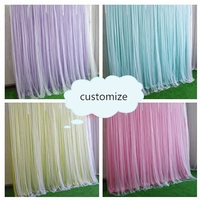 romatic display prop ice silk cloth with sash party backdrops curtain Wedding background layout sign stage decoration 2X2meters