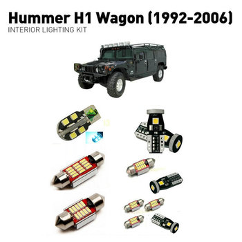 Led interior lights For Hummer h1 wagon 1992-2006  18pc Led Lights For Cars lighting kit automotive bulbs Canbus