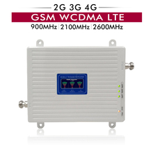 65dB רווח LCD תצוגת 2G 3G 4G לשלושה להקה משחזר GSM 900 + WCDMA 2100 + LTE 2600 MHz מגבר נייד טלפון סלולרי אותות בוסטרים