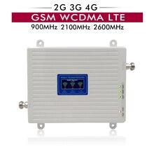 65dB ganar LCD pantalla 2G 3G 4G repetidor de Triple banda GSM 900 + WCDMA 2100 + LTE 2600 MHz celular amplificador de señal de teléfono
