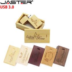 Флэшка в виде прищепки 3,0 Акция 5 шт. Бесплатный Логотип Деревянный 5-цветный большой квадратный блок USB флеш-накопитель pendriver + коробка 4 ГБ/8