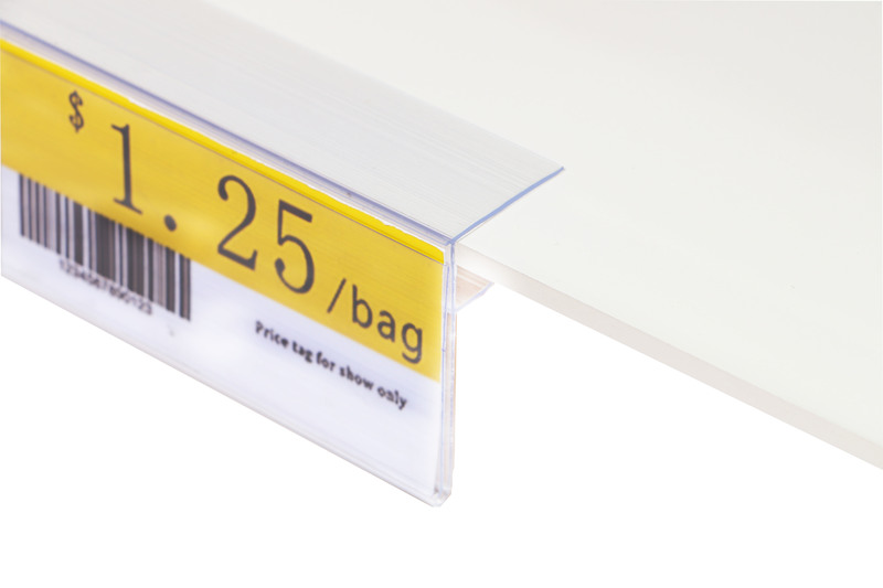 Glass Wood Shelf Data Strips Clip-On Mechandise Price Tag Display Label Card Cover Sign Holder Strip For Supermarket Rack 40pcs