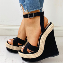 INS Sexy Ankle Buckled Hot Sale Leisure Women Wedges Sandals