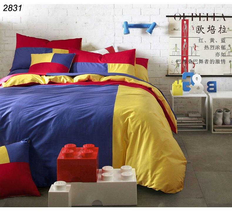 Triple Colors Bedding Set 3pcs 4pcs Bed