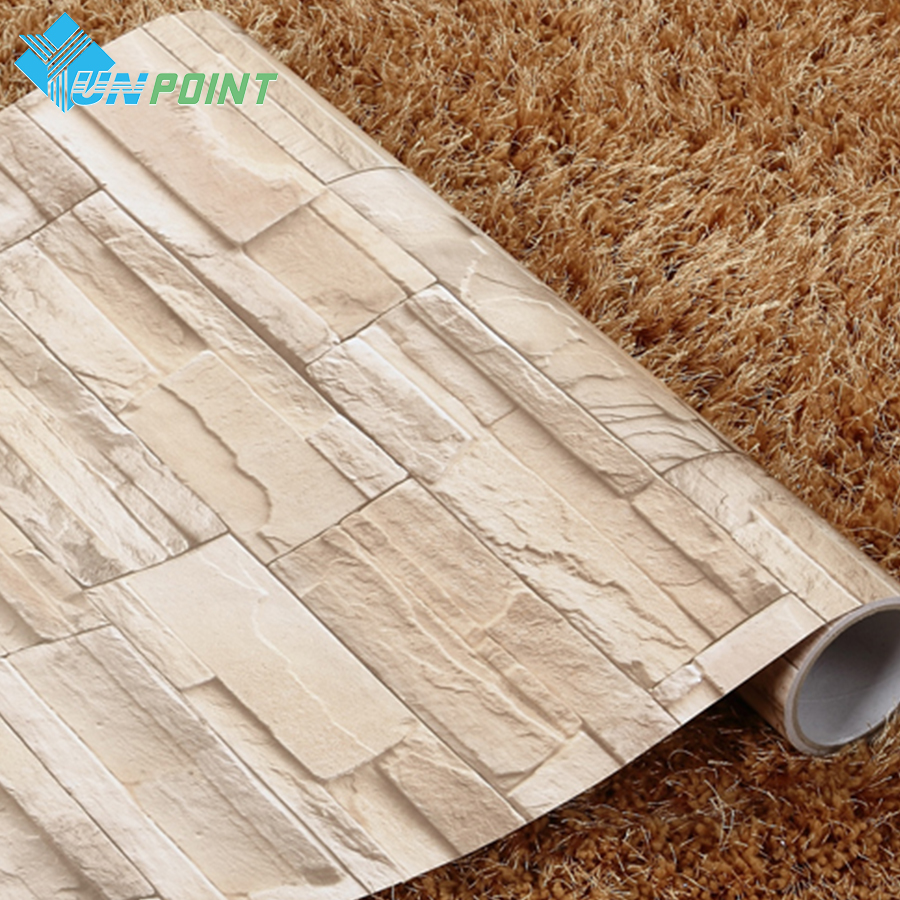 Купить с кэшбэком Modern Papel De Parede Brick Wallpaper Self Adhesive PVC Stone Wall Stickers For Bedroom Kitchen Waterproof Decorative Stickers