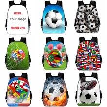 11 дюймов детский рюкзак футбольные студенческие сумки детские футбольные напечатанные Роналду Bookbag для детского сада Прямая поставка на заказ DIY