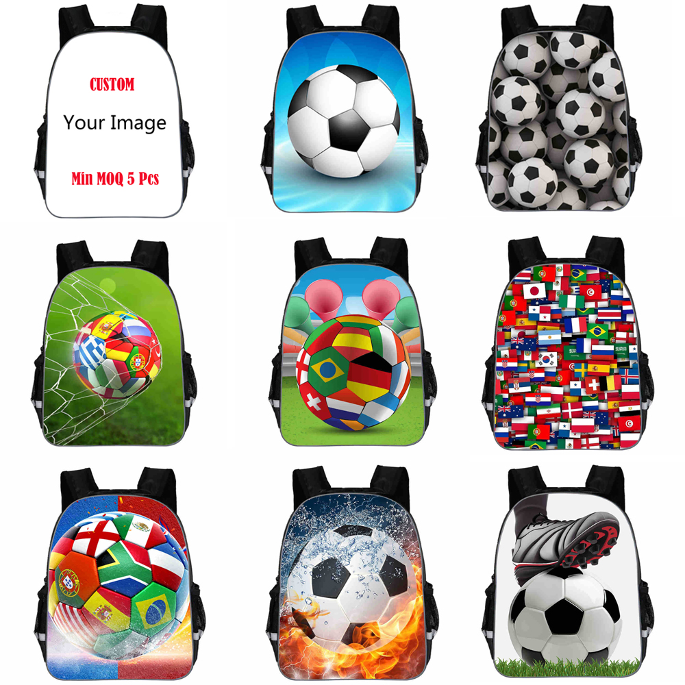 11 Inch New Kids Backpack Soccer Student Bags Child Football Printed Ronaldo Bookbag For Kindergarten Dropshipping Custom DIY