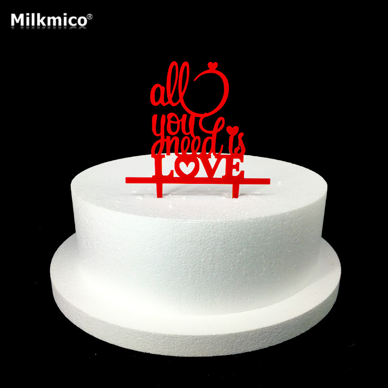Milkmico Wedding Cupcake Toppers Quality Acrylic Letters Cake Topper