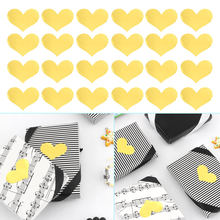 240pcs/10 sheets golden heart gold handmade cake candy packaging