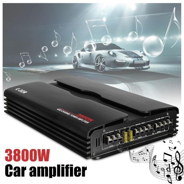 Best Price KROAK 3800W Car Audio Power Amplifier Subwoofer RMS 4 Channel 12/24V Powerful PWM 4Ohm Car Truck Stereo Amplifier Speaker